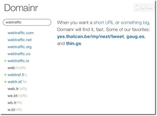 short url suggestion name domai.nr