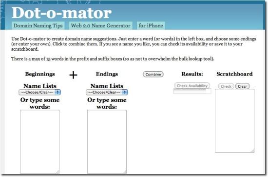 domain suggestion tool dotomator.com
