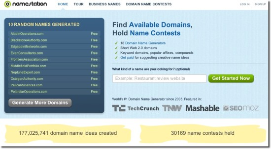 domain suggestion tools namestation.com