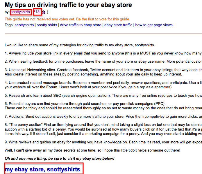 Ebay Traffic generation reviews