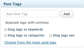 what are blog tags