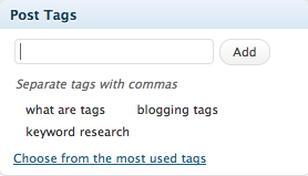 blogging tags image