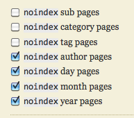 set noindex meta tag in thesis