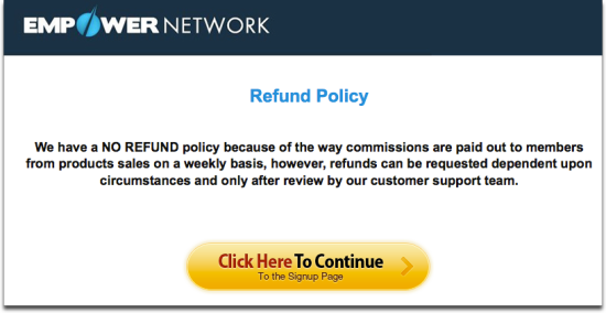 en refund policy