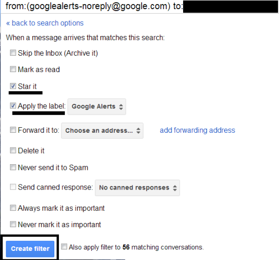 google alerts in gmail