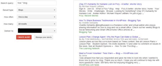 google alerts content ideas