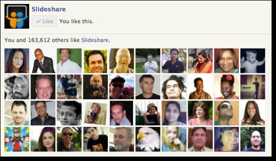 slideshare facebook fans