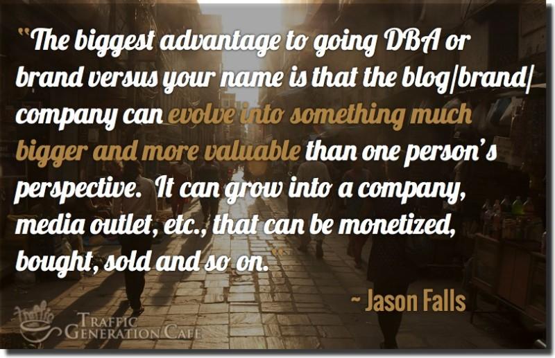 jason falls on picking a good blog name
