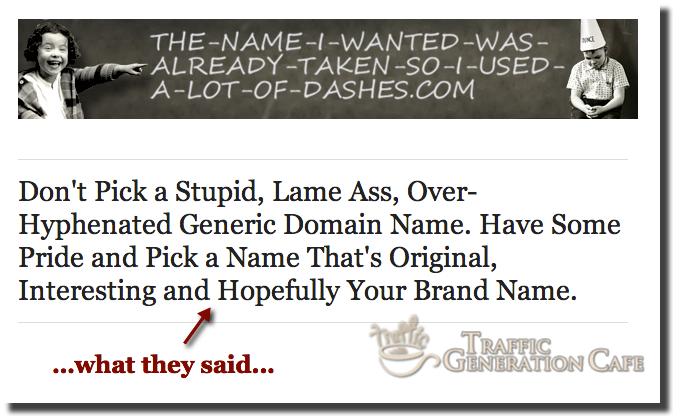 stay away from strange blog names