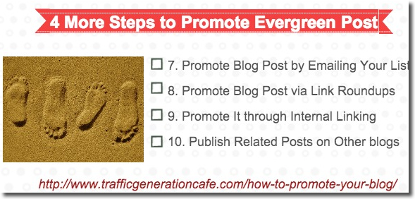 4 steps to promote evergreen post