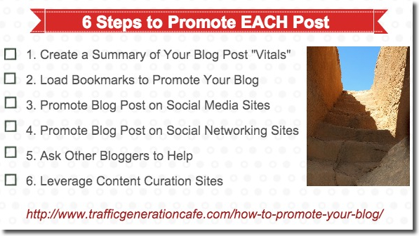 6 steps to promote each post