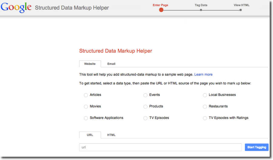 google data markup helper