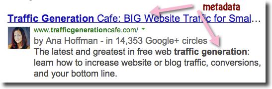 google indepth metadata in search