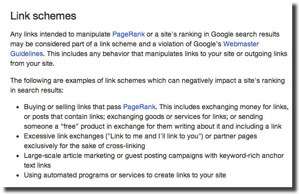 google link schemes update