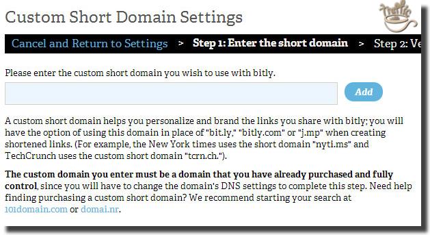 enter new bitly short domain
