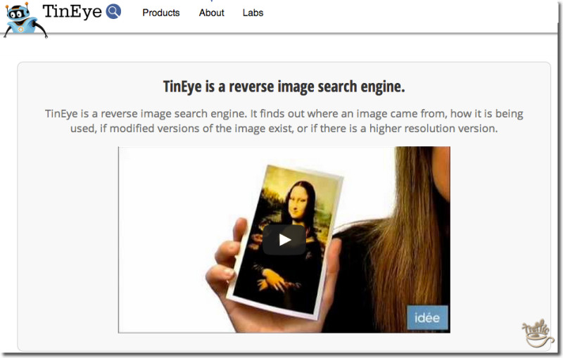 how to use tineye for blog post image search