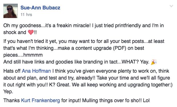 Example of blog post to PDF Sue-Ann Bubacz