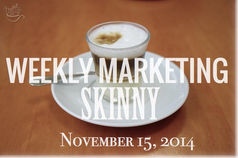 Your Weekly Marketing Skinny November 15, 2014 at Traffic Generation Café