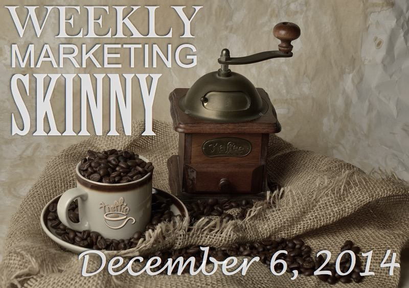 Catch up on your weekly marketing news for December 6, 2014