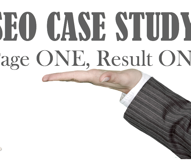 SEO Case Study: Page One, Result One