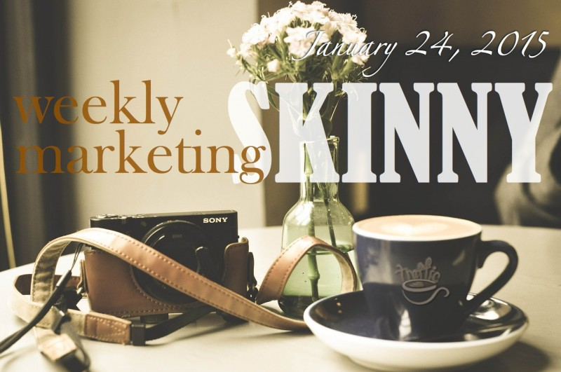 Your Weekly Marketing Skinny for January 24, 2015