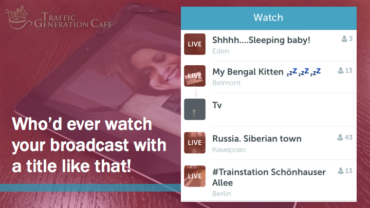Periscope on Android Tutorial: create better broadcast titles