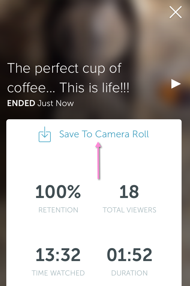 How to save periscope broadcast to camera roll
