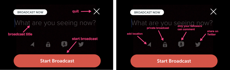 Periscope tutorial: How to start a broadcast