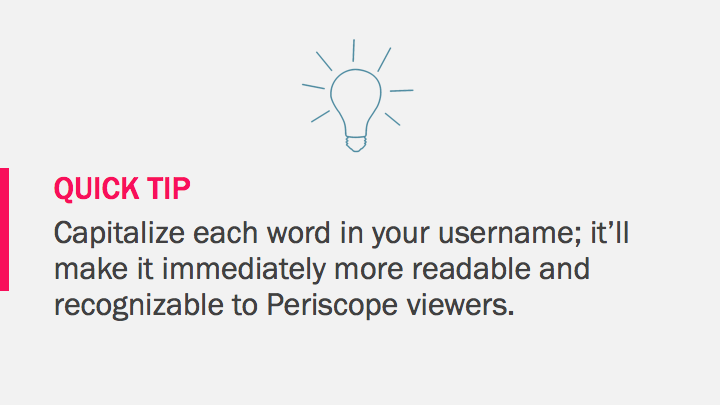Periscope on Android Tutorial quick tip: capitalize each word in your username