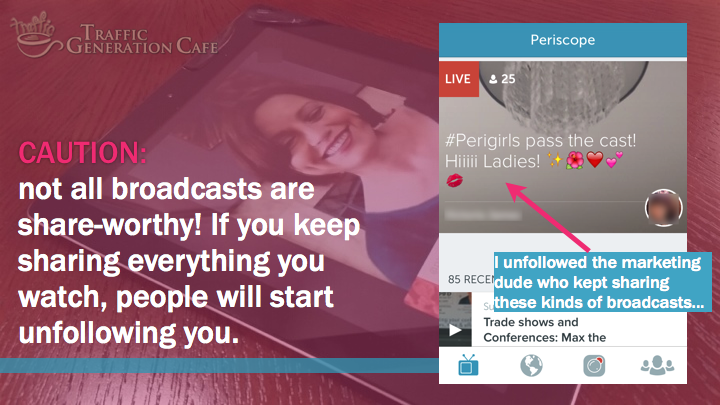 Periscope on Android Tutorial: not all broadcasts are share-worthy