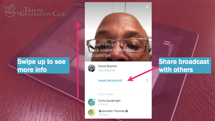 Periscope on Android Tutorial: share broadcast with others