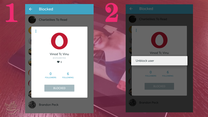 Periscope on Android Tutorial: how to unblock users