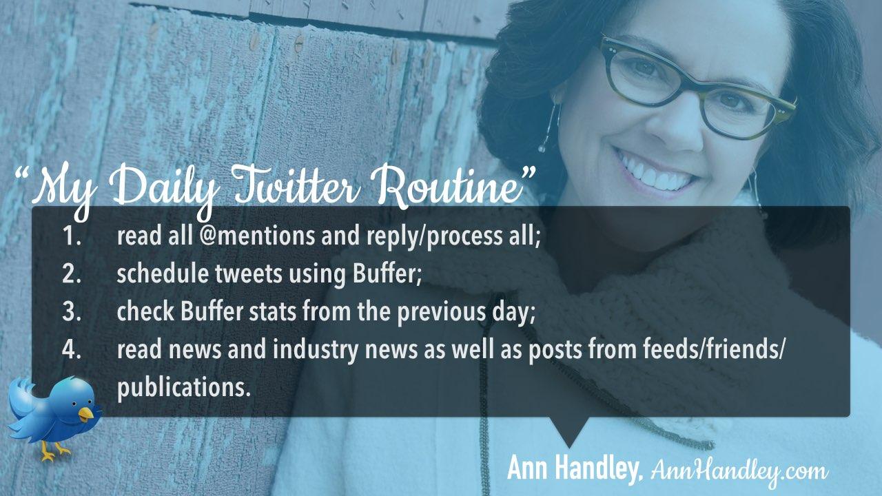 Twitter daily management routine Ann Handley