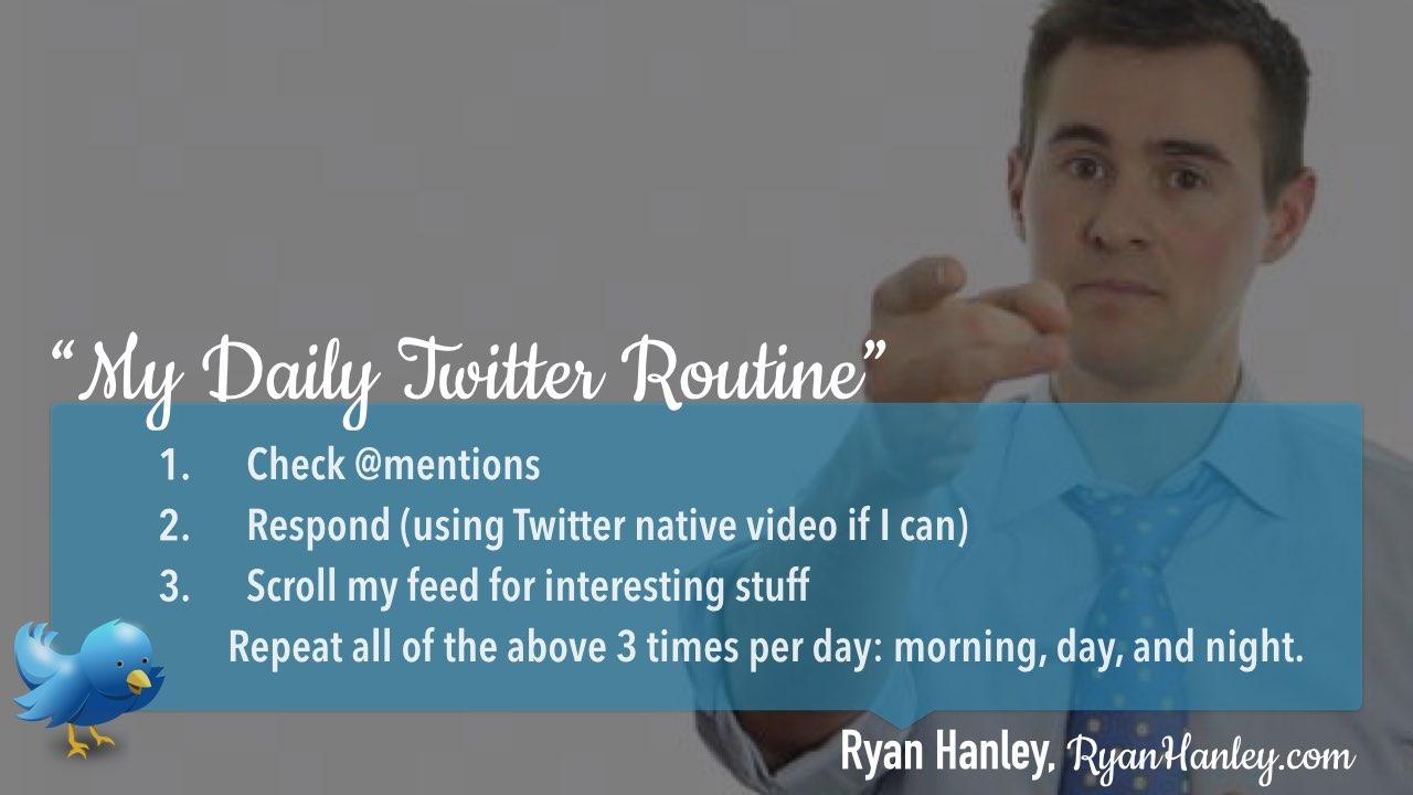 Twitter daily management routine Ryan Hanley