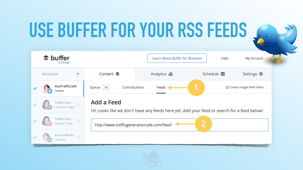 How to manage rss feeds with Buffer