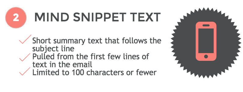 Mobile friendly emails Hack #2: snippet text