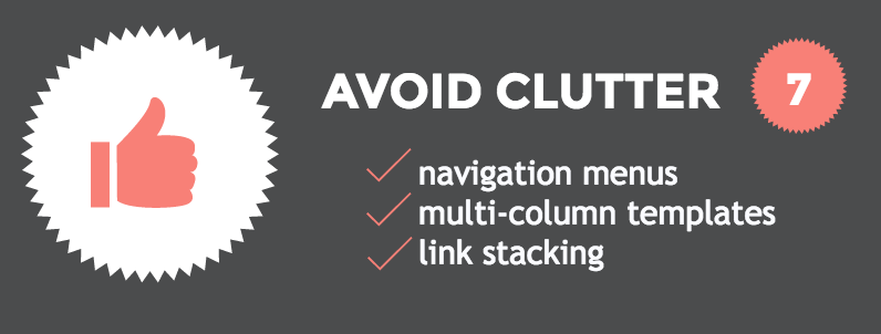 Mobile friendly emails Hack #7: avoid clutter