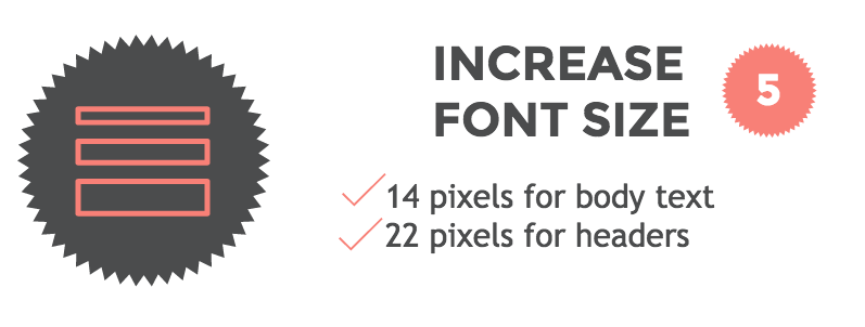 Mobile friendly emails Hack #5: increase font size