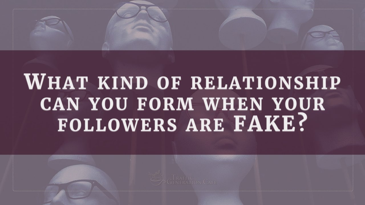 Can you build a real relationship with fake followers?