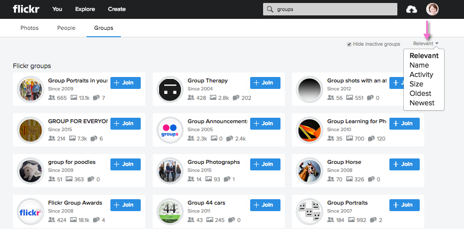 Join flickr groups for more exposure, traffic, and links