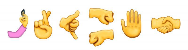 New emoji hand gestures
